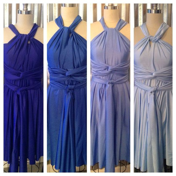 Ombre Bridesmaids Dresses- FULL Cocktail Infinity Bridesmaids Dress.  Except in purples!