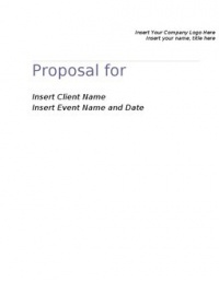 Proposal for Event Management by Event Planner or Consultant. Use this proposal for your next event, project, or marketing campaign. Fully customizable proposal includes timetable schedule, goals & objectives, scope of work and program highlights by: JK Marketing and Event Management