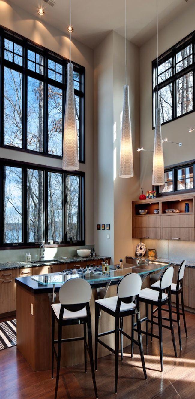 Bath Design   Monochrome   Modern Decor   Black Tile   Brick Pattern   White Sink