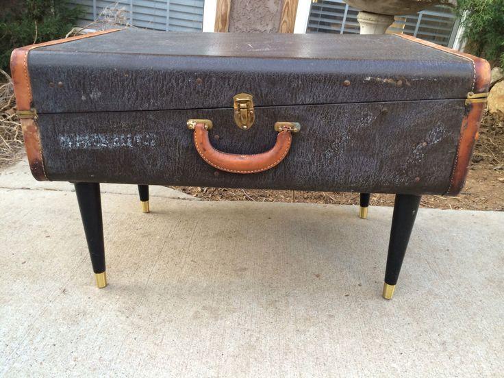 Vintage Suitcase Coffee Table / Black Suitcase / Suitcase Table / Black  Table / Trunk Table