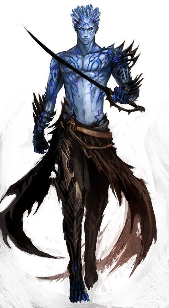 Ice-D Water Genasi Druid of the Artctic