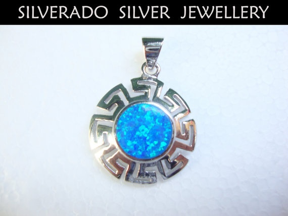 Greek Eternity Key Meander Sun Pattern by SilveradoJewellery, €48.00