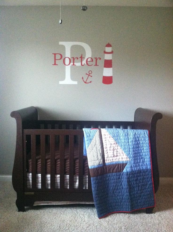Sailor baby bedroom....