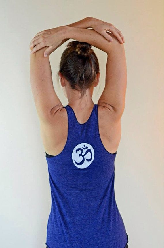 Hey, I found this really awesome Etsy listing at https://www.etsy.com/listing/110377550/om-yoga-racerback-tank-s-m-l