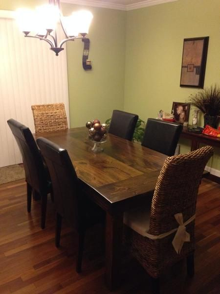 Farmhouse table farmhouse table dark walnut and dining sets