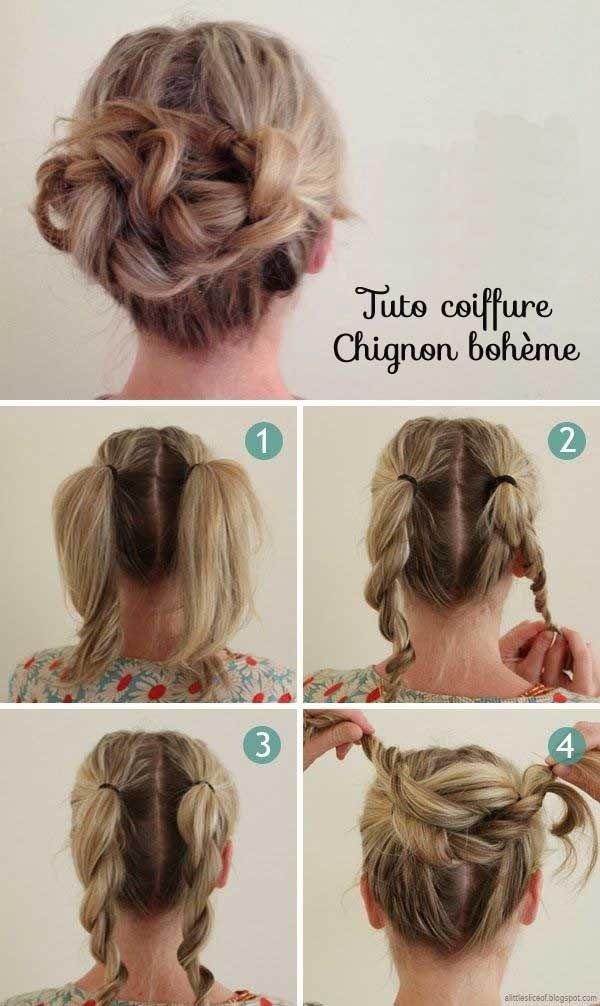 1000 idées sur le thème Chignon Cheveux Court sur Pinterest