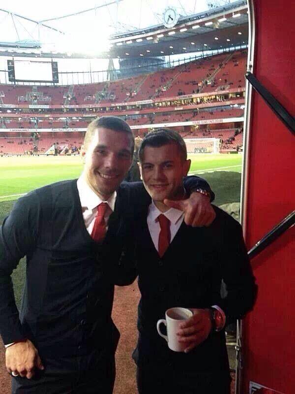 Lukas Poldoski  & Jack Wilshere!!'