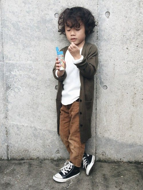 boy fashion cute long cardi brown chinos and converse great outfit - Pictures For Little Boys