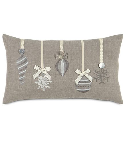 Love this cushion design.  It looks striking all in grey and silver.