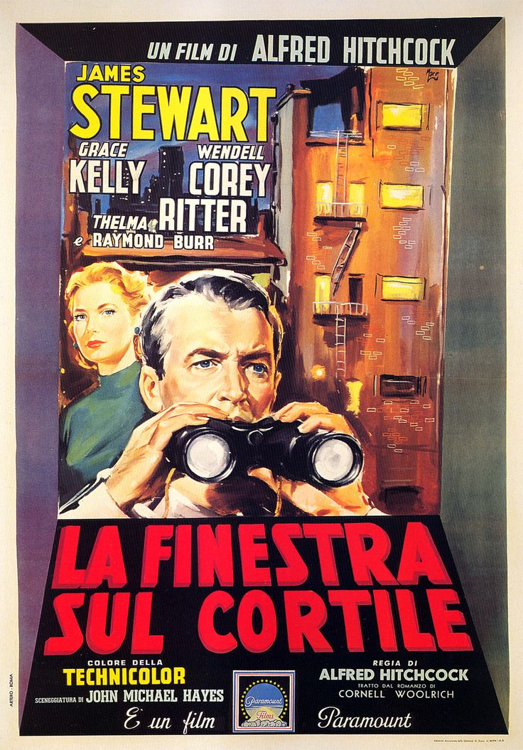 49 best movie posters hitchcock images on pinterest - Streaming la finestra sul cortile ...
