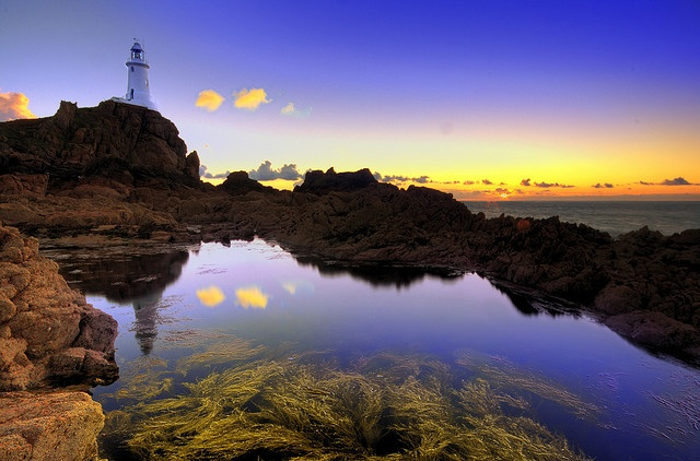 La Corbiere lighthouse, Jersey, Channel Islands