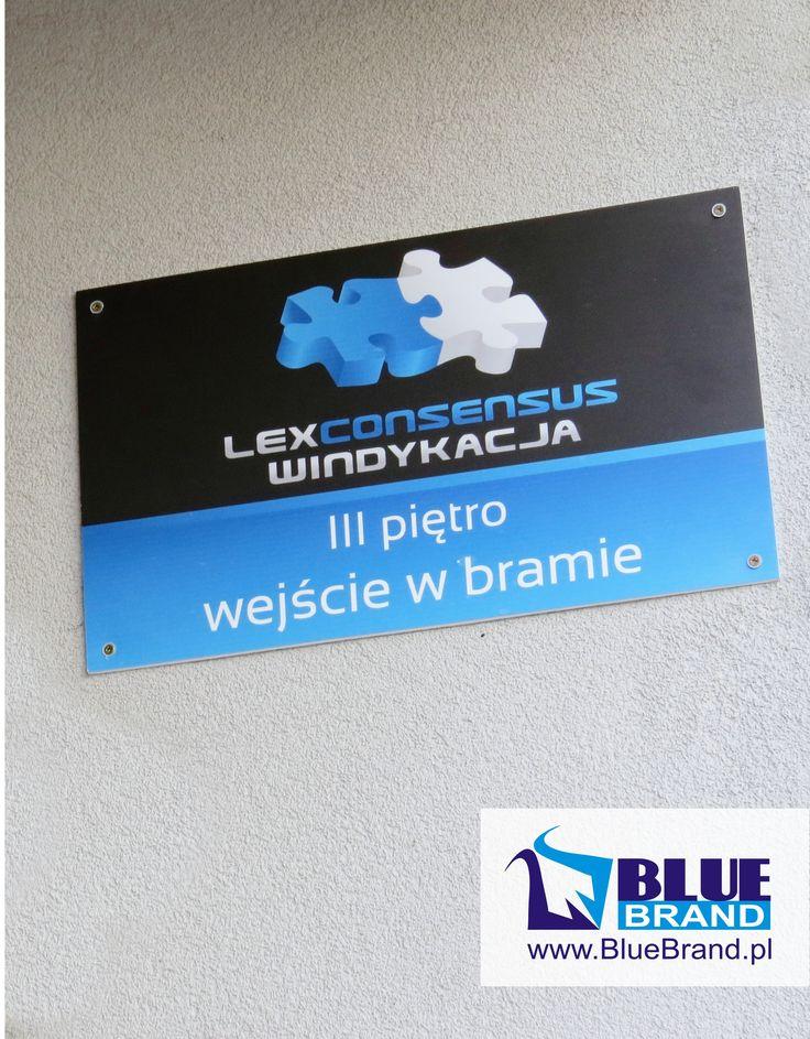 szyld zewnętrzny z pcv  - projekt i wykonanie www.BlueBrand.pl #BlueBrand #AgencjaReklamowa #reklama