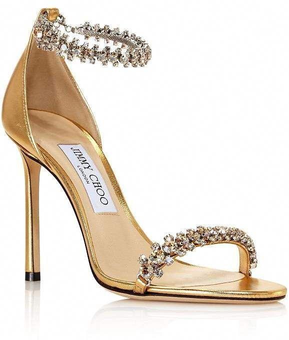 Crystal Embellished High-Heel Sandals