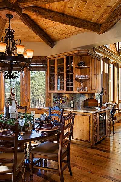 211 best Cabins - Dining rooms images on Pinterest | Log houses ...