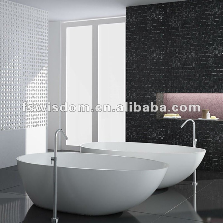 Oval Freestanding Solid Surface Bathtub