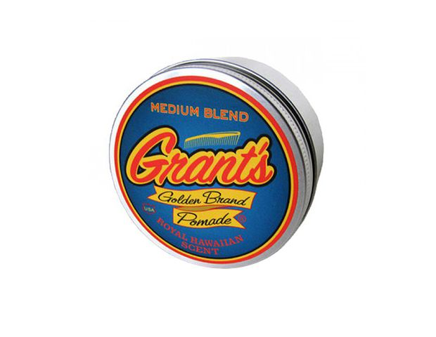 @Byrdie Beauty - Grant's slightly tropical-smelling pomade ($17) lends shine and hold to hair, but he'll still be able to run his fingers through it—a winning combination. Bonus? The retro tin will look great in his medicine cabinet.