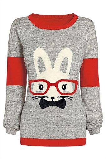 Easter Rabbit Jumper - Easter Gifts - Easter Bunny - Women's Fashion - Women's Sweatshirt - Animal Print - Gift For Her [JMPE-002] daahY