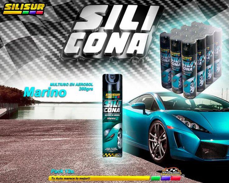 Silicona Multiuso Silisur Perfumada Marino aerosol 260grs. Pack 12u.  OFERTA SOLO POR INTERNET!! Tu Auto merece lo mejor..!!