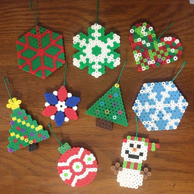 Christmas ornaments perler beads by scurrent