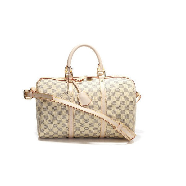 Louis Vuitton Luggage Strap Cream Colored Bags ❤ liked on Polyvore
