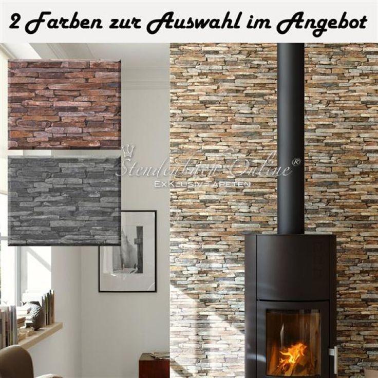 Die besten 25+ Stein tapete Ideen auf Pinterest Marmor-Interieur - stein tapete wohnzimmer ideen