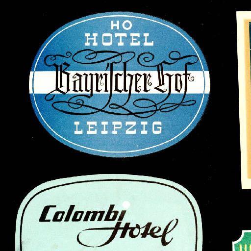 Hotel Bayerischer Hof, Hotel Kempinski, Hotel Kempinski Bristol, Hotel Lilie, Hotel Lunik, Colombi Hotel, Europa Hotel, Hotel Bayrischer Hof, Hotel Deutschland, Hotel Magdeburger Hof, Hotel Köppelmann, Hotel Cecilienhof, Hotel Dworcowy :: Etiquetes d'hotels (Biblioteca de Catalunya)