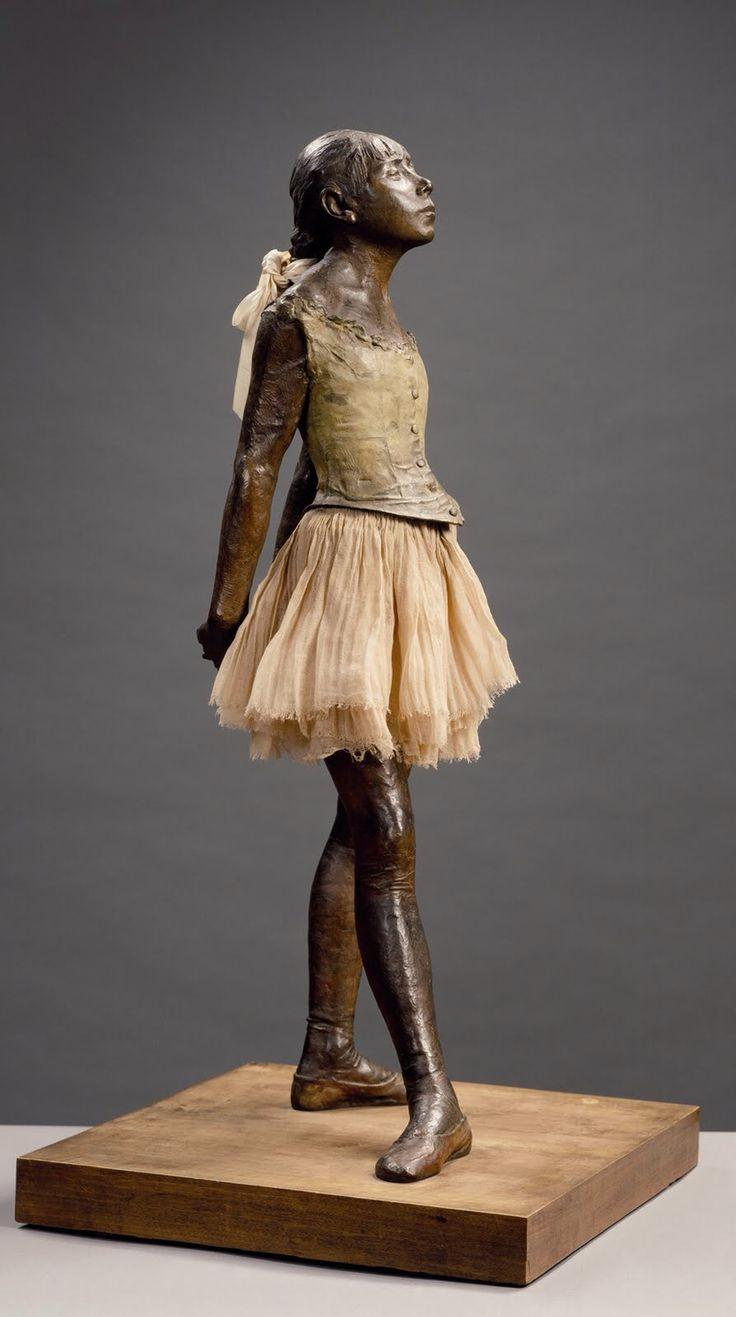 La Petite Danseuse de quatorze ans exemplaire du musée d'Orsay. By Edgar Degas. Date. 1881.