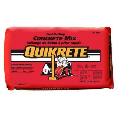 Quikrete Fast Setting Concrete Mix 30kg 100467 Home