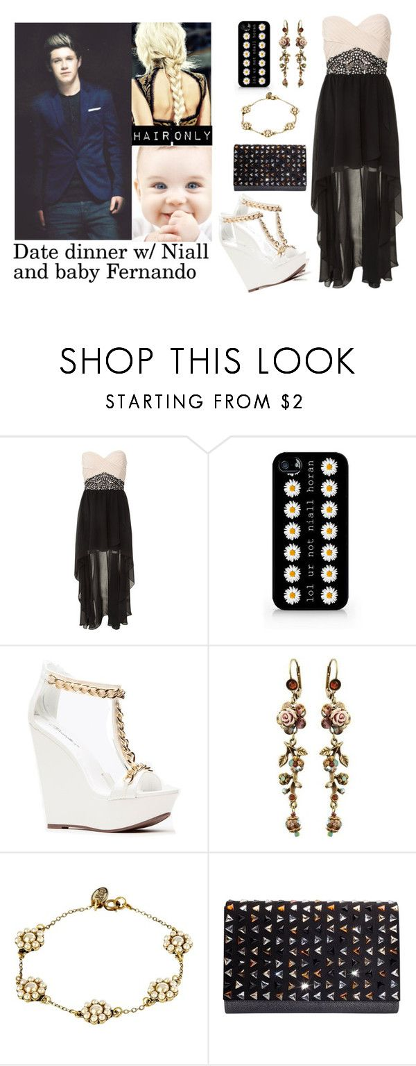 """""""Date Dinner with Niall and baby Fernando"""" by sabrina-emo ❤ liked on Polyvore featuring Miso, Michal Negrin, Cath Kidston and Shana London"""