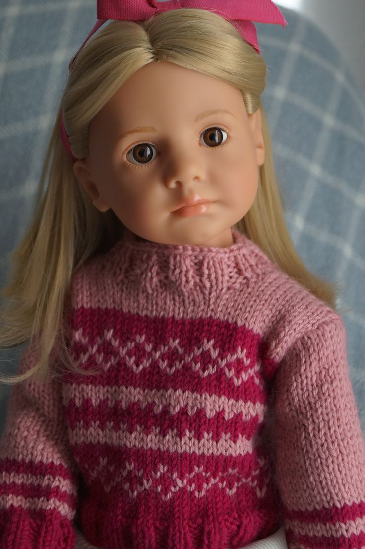 Gotz doll Emily. Cute handmade sweater. Happy Kidz.