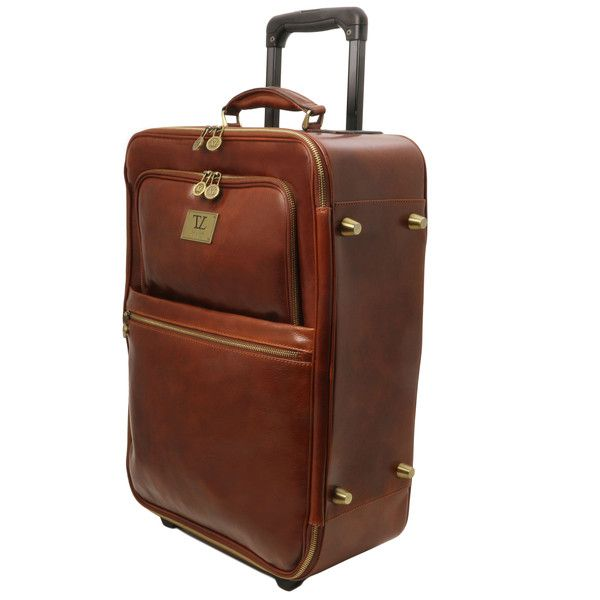TL Voyager - 2 Wheeles vertical Leather trolley