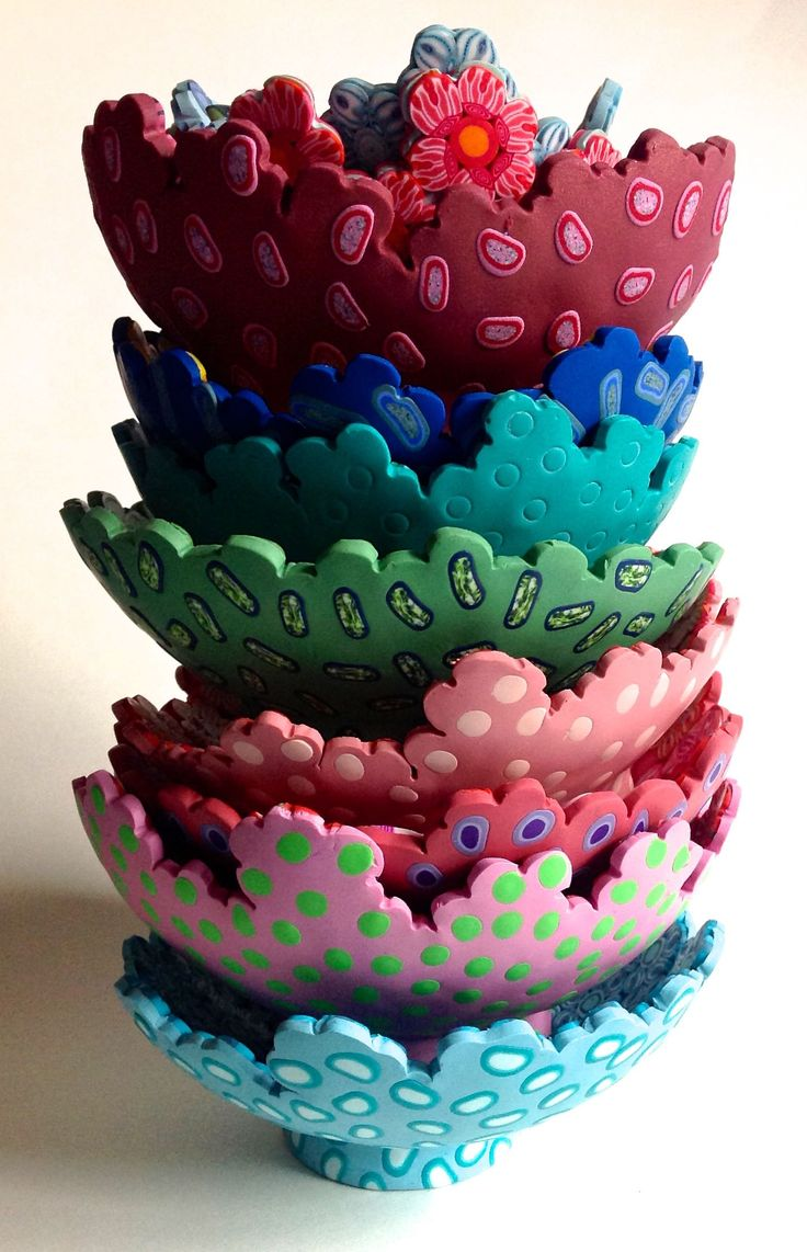 Polymer Clay Tutorial 6 Ways To Make Clay Bracelets: 17 Best Images About Polymer Clay Vessels On Pinterest