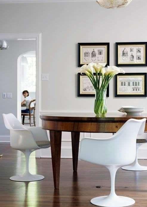 Arredare con mobili antichi e moderni - Sala da pranzo dallo stile ricercato