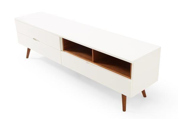 Meuble TV design scandinave en bois Bâle Lema de profil