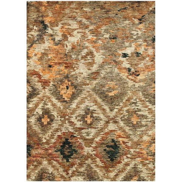 Loloi Rugs Rustic Brown Xavier Rug ($1,000) ❤ liked on Polyvore featuring home, rugs, hand knotted rugs, jute area rugs, jute rug, rustic area rugs and brown jute rug