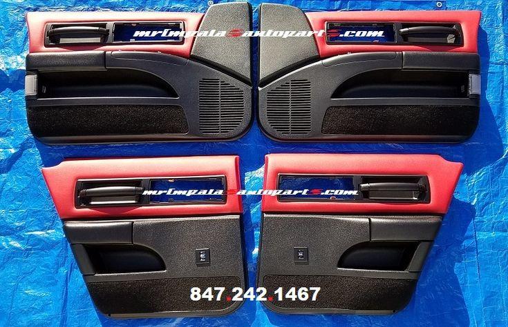 94 96 Impala Ss 999 Door Panel Set In Custom Red Amp Black