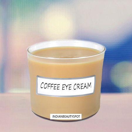 DIY coffee eye cream for dark circles and fine lines
