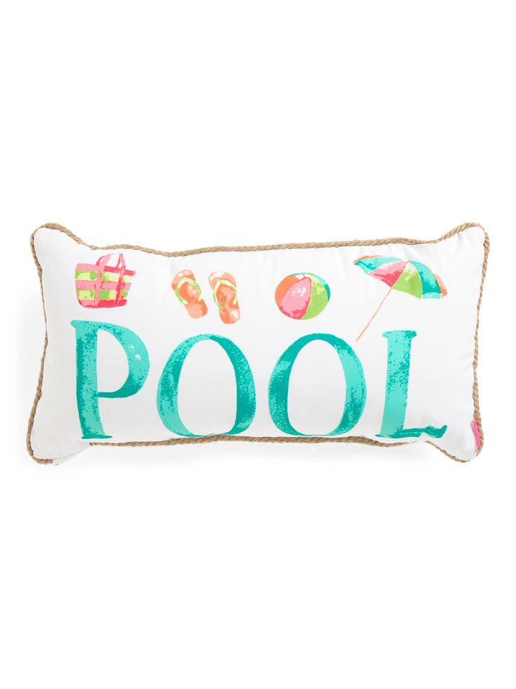 14x27 Indoor Outdoor Pool Pillow