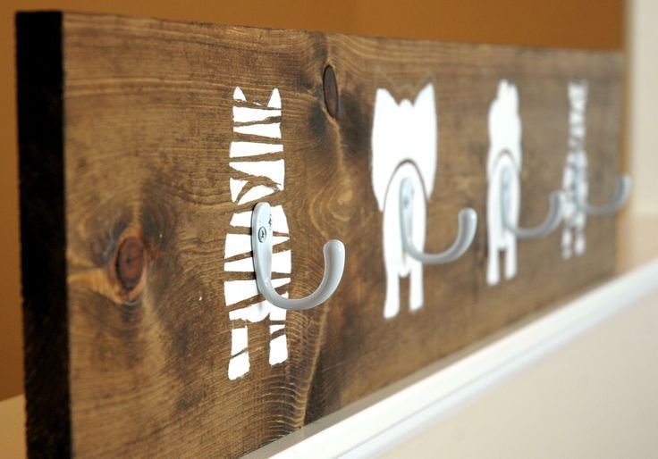 Cute idea for a kids room! Coat rack with tails for hooks