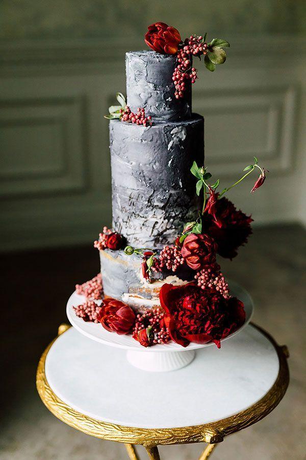 Fine Art Wedding with Bold Pops of Ruby #jeweltonedwedding #manorweddings #weddingdresses