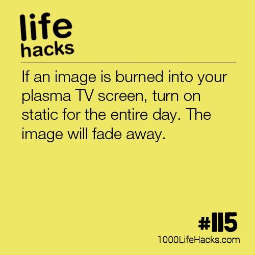 115 – How To Fix An Image Burned In Your Plasma TV (1000