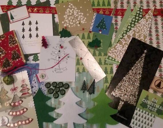 Oh Christmas Tree Paper Kit Christmas Embellishments Junk