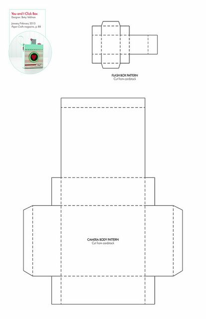 Click Box #free pattern/template #downloadable Diy Boxes, Crafts ...