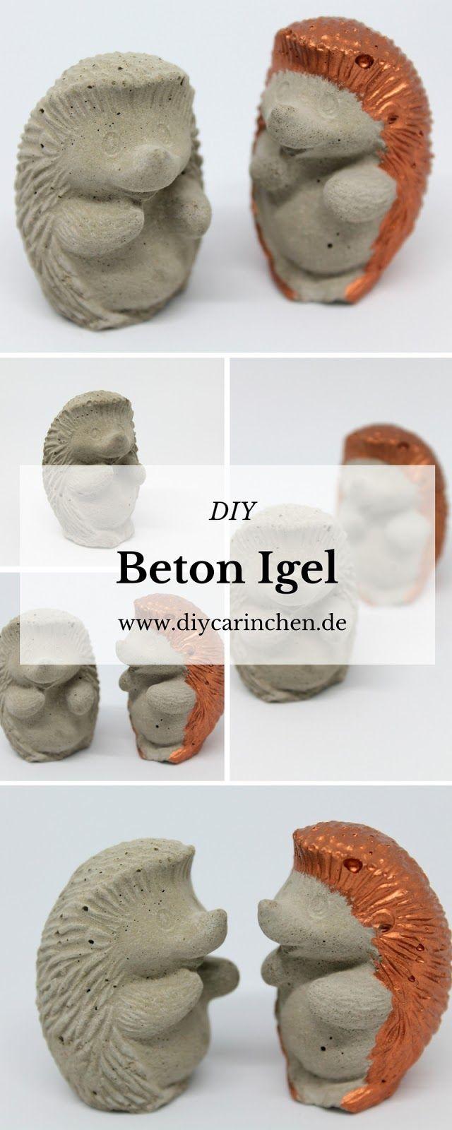 DIY Beton Igel Kupfer