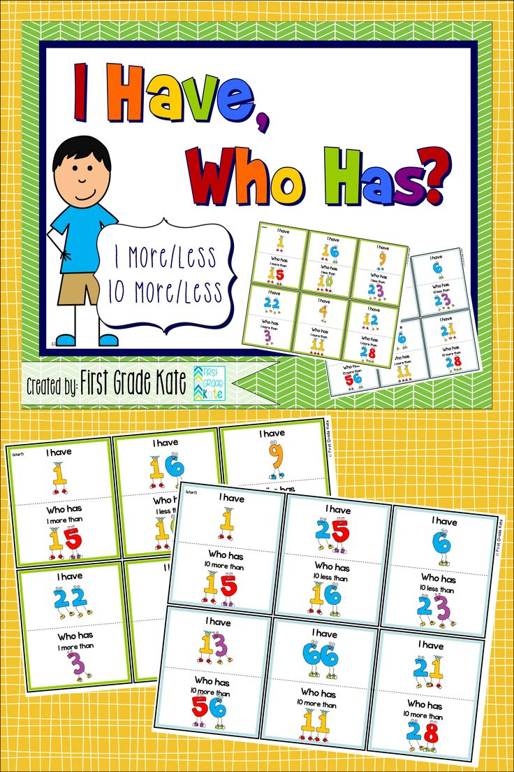 I Have, Who Has games for practicing 1 more/less and 10 more/less. My students LOVE these games and make it a competition to see if they can beat their previous time. Bonus: It promotes cooperative listening! :) $