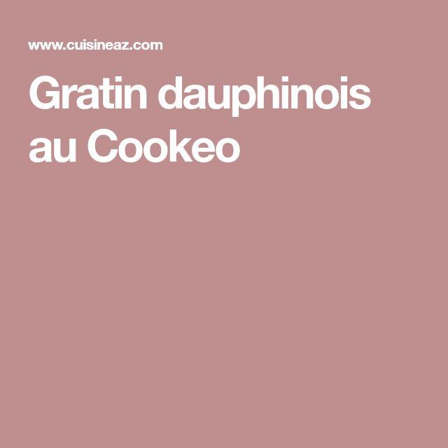 Gratin dauphinois au Cookeo