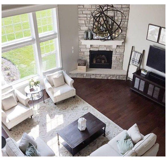 How To Arrange Living Room Furniture With Fireplace And Tv Howtoarrangelivingroomfurniturewithfireplaceandtv Corner In 2021 Corner Fireplace Home Decor Room