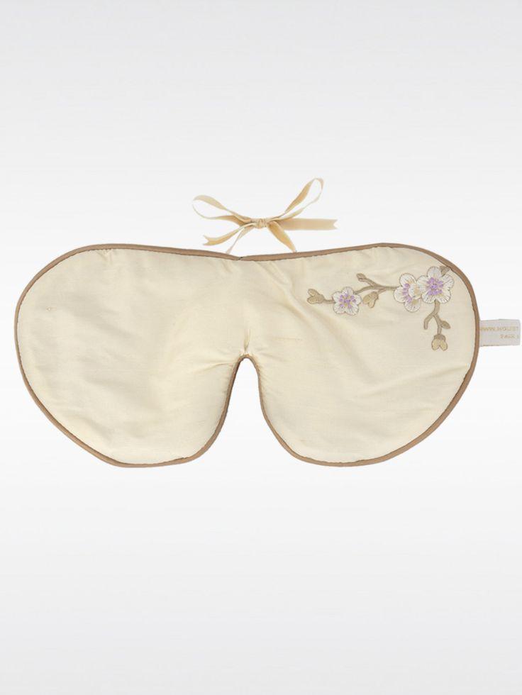HOLISTIC SILK , Lavantalı İpek Göz Maskesi Cream Çiçek Desenli  #shopigo#shopigono17#beauty#fashion#luxury#stylist#accessories#health#beautyproducts