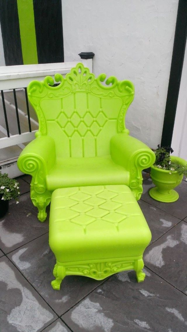 Now Thatu0027s A Really Really Cool Lime Green Chair ♥