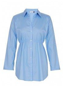 Longer-length Shirt Pale Blue